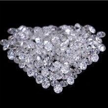Ring-Earring Moissanite Loose Diamonds VVS Jewelry Round Raw 10pcs Cut-Making Materail