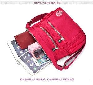 Image 2 - を新ヨーロッパスタイルのファッションの女性メッセンジャーバッグショルダーバッグキャンバス軽量ダブルポケット防水バッグ