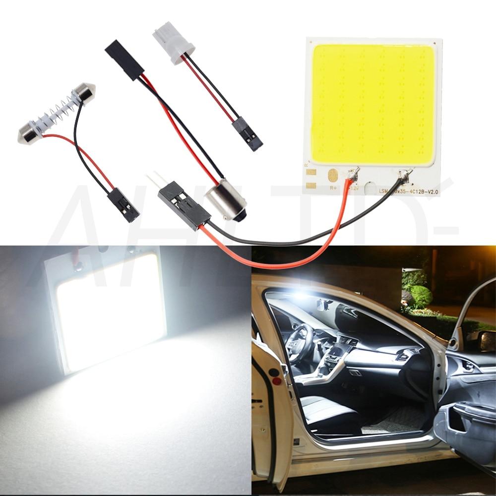 Hb2c58ec19ab54276ba1026067735db69o Car Led T10 C5W Cob 24 36 48SMD White Reading Car Led parking Bulb Auto Interior Panel Light Festoon License Plate light Bright