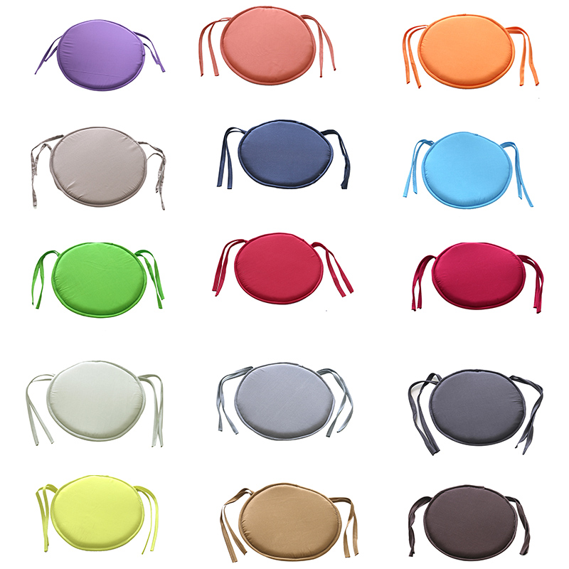 Simple Style Portable Indoor Dining Garden Patio Home Office Kitchen Round Chair Seat Pad Cushion With Four Ties 2 Sizes