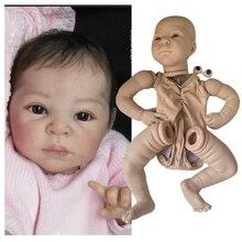 Горячая продажа 55 см набор куклы Reborn очень мягкий настоящий сенсорный свежий цвет неокрашенные полные конечности DIY части куклы Diy Детские п...