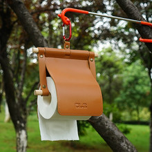 17x20CM Tissue Hanging Holder PU Waterproof Material Round Toilet Paper Hook Holder Case For Camping Home Bathroom Kitchen