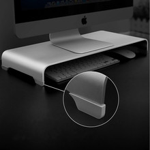 Aluminum Monitor Stand Metal Desk Stand Universal Computer Riser Base up to 27 inches Screens ,for Mac monitor MacBook Laptop
