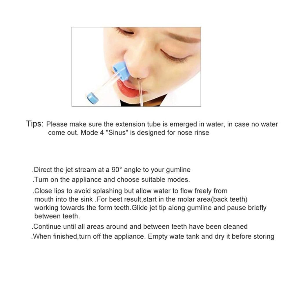 Azdent elétrica dentes vermelhos portátil inteligente dentes
