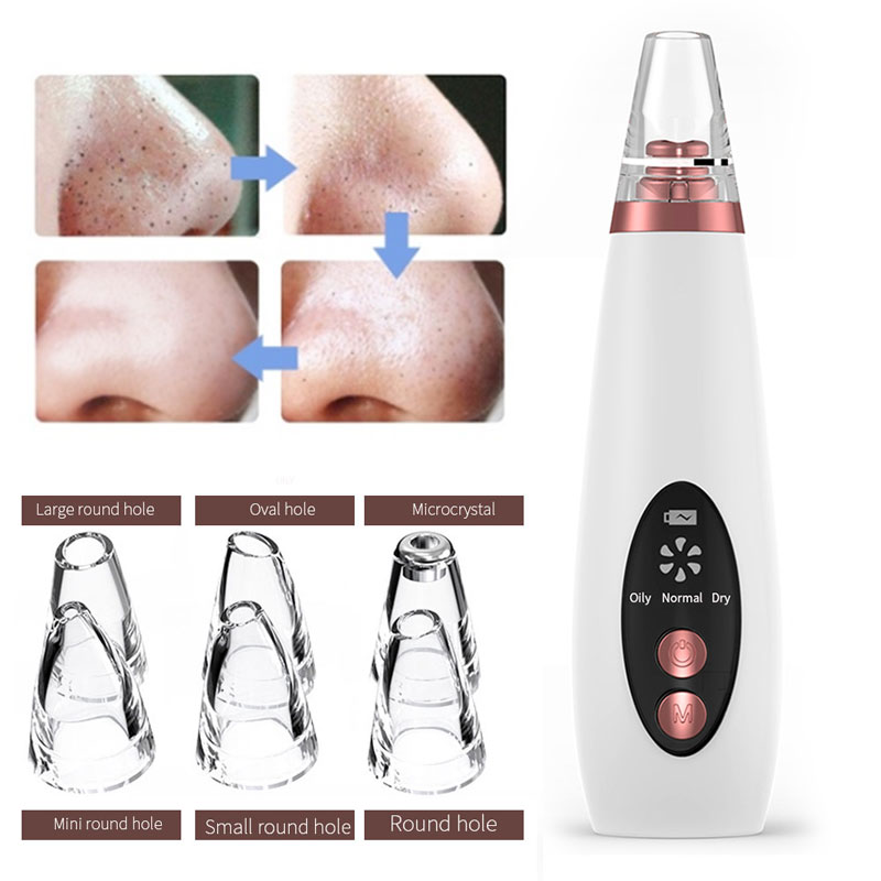 New USB Blackhead Remover Face Pore Vacuum Skin Care Acne Pore Cleaner Pimple Removal Vacuum Suction Facial Tools Puntos Negros