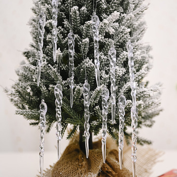 Christmas 12Pcs Simulation Icicle Merry Decorations for Home Tree Ornaments New Year