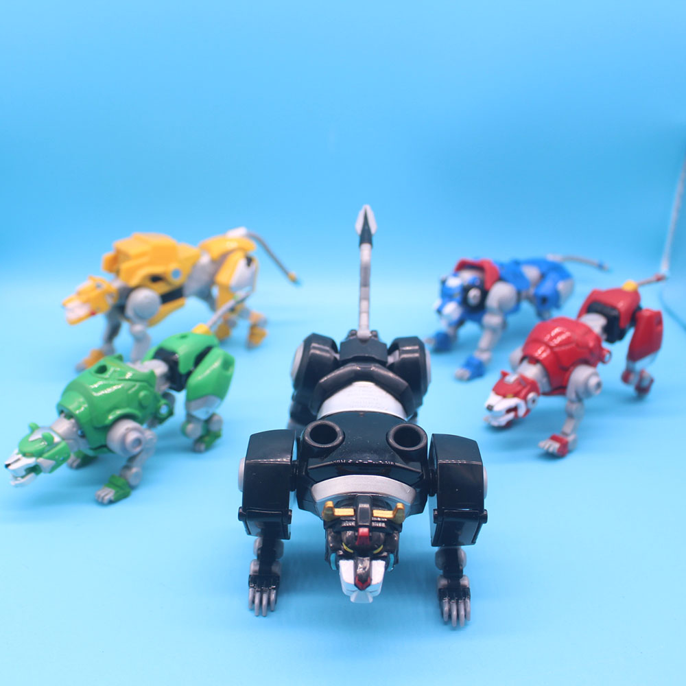5 In 1 US Version Voltron Super Alloy Soul Beast King GoLion Metal Transformation Robot Action Figure Toy Christmas Gift For Kid