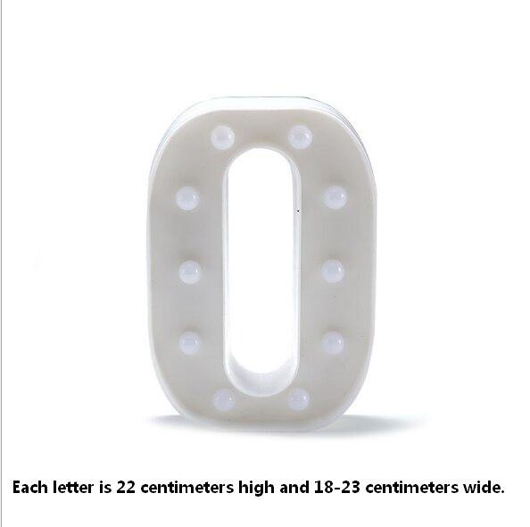 Marquee знак Алфавит лампа 26 букв Белый светодиодный ночник для дня рождения Свадебная вечеринка стена на стене украшения