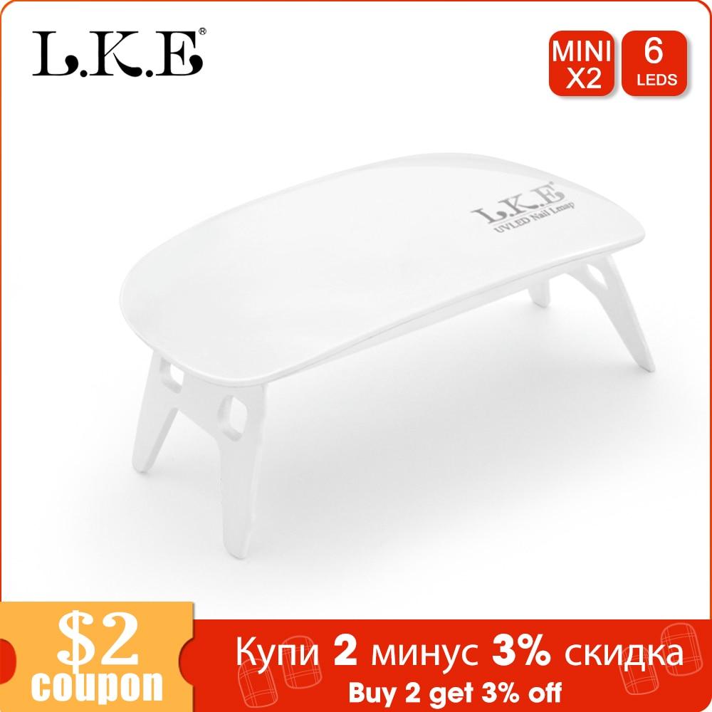 LKE 6W UV LED Lamp Nail Dryer Portable USB Cable For Prime Home Use Gel Nail Polish Dryer Mini USB Nail Dryers