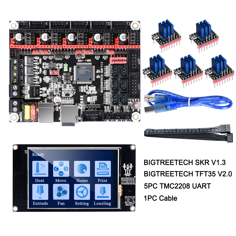 Image 2 - BIGTREETECH SKR V1.3 Control Board 32Bit Smoothieboard+TMC2209 V1.2 UART+TFT35 V2.0 3D Printer Parts vs tmc2208 tmc2130 MKS Gen-in 3D Printer Parts & Accessories from Computer & Office