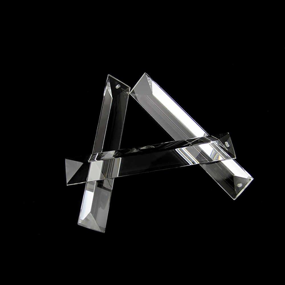 Wszystkie rozmiary przycinanie kryształ w kształcie trójkąta jasny pryzmat w 1 otwór szklane żyrandole wisiorki części szklane lampy Drop wisiorki