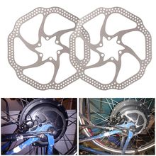 цена на 2Pcs General 160mm Disc Brake Rotor with 6 Bolts Stainless Steel Bicycle Rotors for Road Bike Mountain Bike In stock