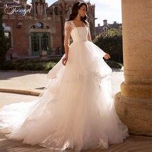 Traugel бальное платье с квадратным вырезом кружевное свадебное