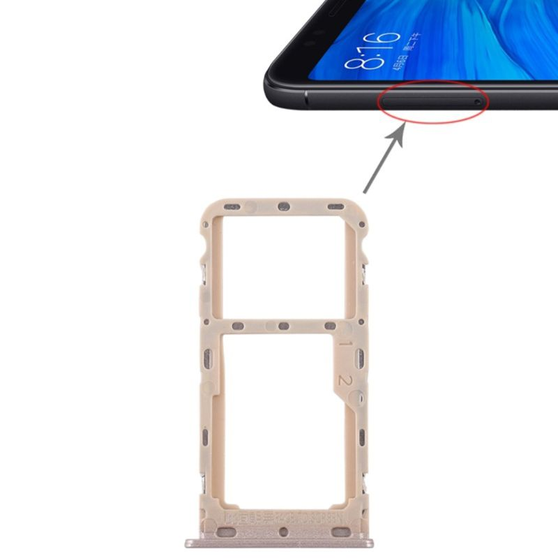 SIM Card Tray Dual Slot Holder Carrier Container Repair Part For Redmi 5/Note 5/ Note 5A/ 5 Plus LX9A