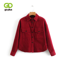 GOPLUS Autumn Vintage Style Korean Chic Shirt For Female Loose Corduroy Long Sleeve Shirts Solid All-match Casual Blouses C6666