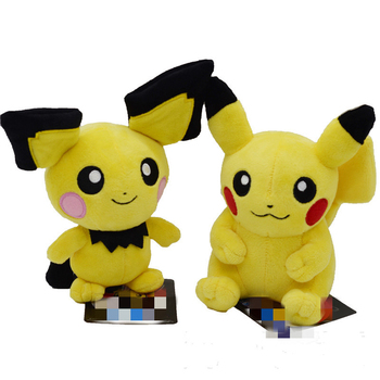 Takara Tomy Pokemon Pichu Pikachu Plush Doll Toy Lovely Pikachu Juvenile Version Stuffed Toy Collection Doll Kids Birthday Gift недорого