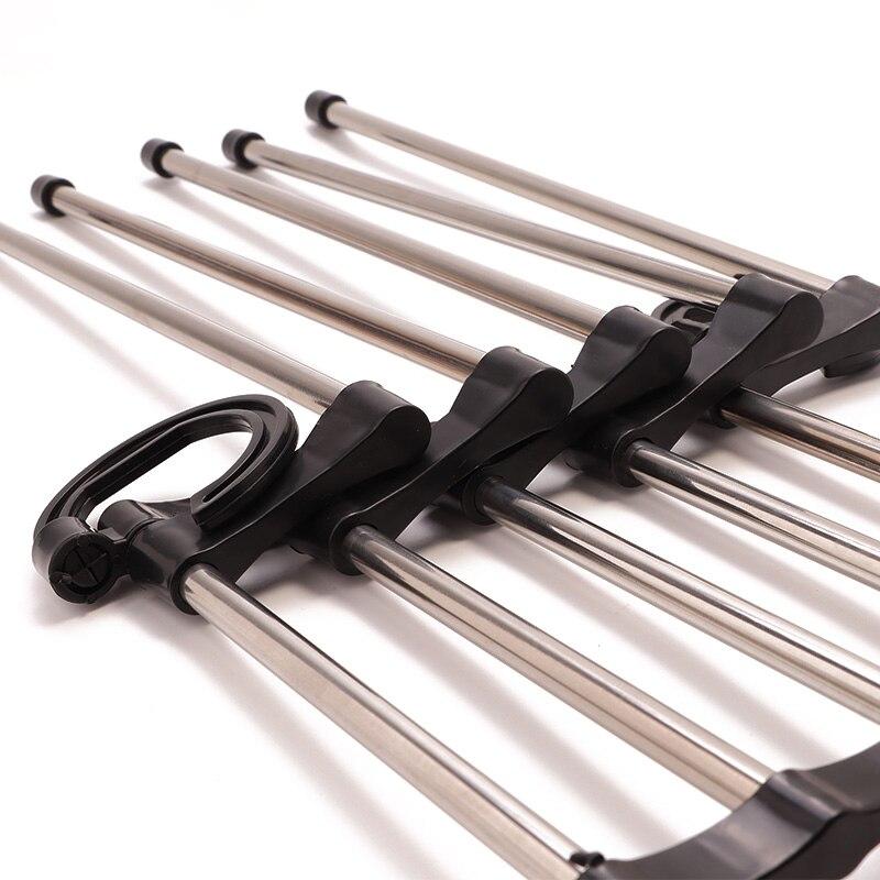 Новинка 5 в 1 многофункциональная выдвижная вешалка для брюк из нержавеющей стали