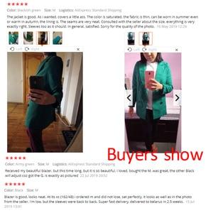 Image 2 - PEONFLY 黒、緑、女性ブレザーやジャケット 2019 春の新作秋のファッションブレザー Femenino 女性のブレザー女性