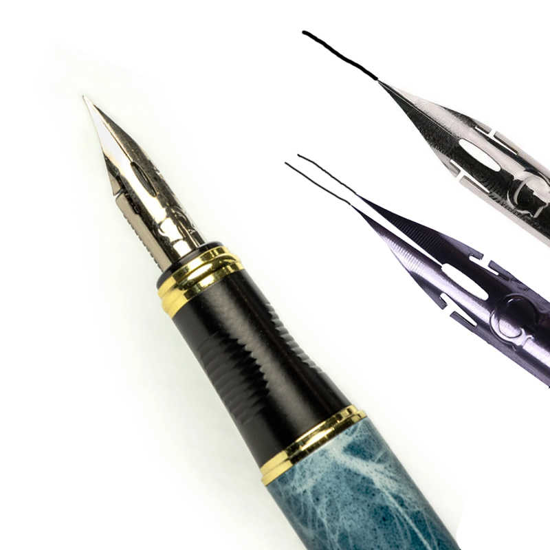 jinhao quality G NIB metal Modified Caneta calligraphy Round Body Flower body English Fountain Pen Stationery Substitute dip pen