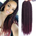 Full Star Pre Twist Crochet Braid Hair Synthetic Black Ombre Brown Senegalese Twist Crochet Twist Braids 30strands for Women