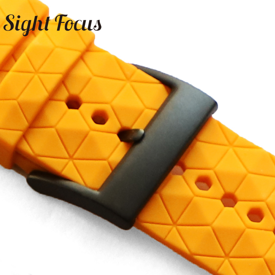 3d Pattern 24mm Silicone Rubber Watch Strap For Suunto 9 / Baro Compatible Suunto 7 Watchband Spartan Watch Band Traverse Strap