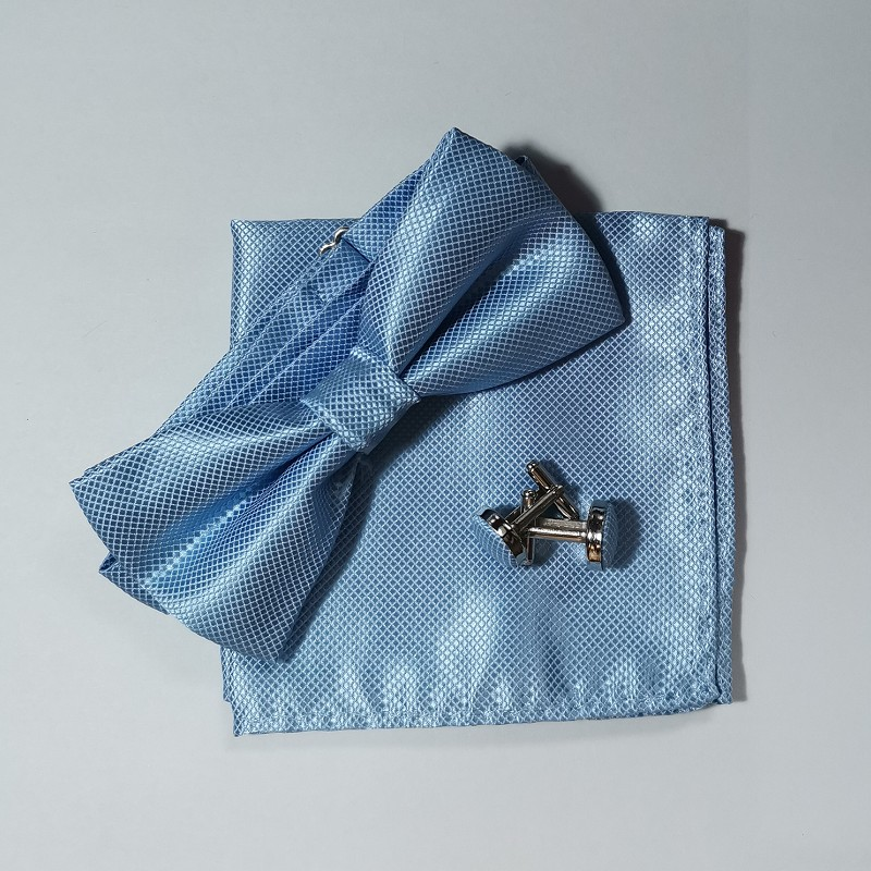 Fliege Set Taschentuch Manschettenknopf schwarz Fliege Kleid Hemd - Bekleidungszubehör - Foto 6
