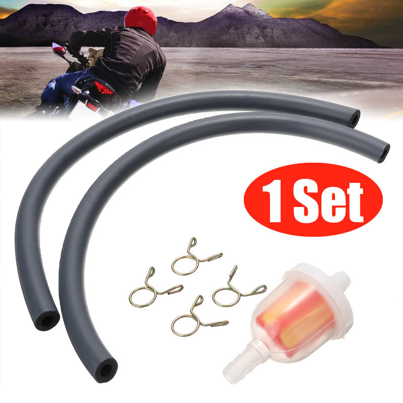 1pc Motorcycle Fuel Gas Hose Clear Filter Mini Inline MOTO 47/49CC For ATV Dirt Pocket Bike Quad Scooter