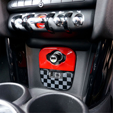 Dashboard USB Cigarette Lighter Panel Hatch Protector Cover Cap Trim ABS for Mini Cooper F Series F55 F56 F57 Covertible Decals 2pcs door handles abs cover cap trim for mini cooper f series f56 hatchback f57 covertible fashion car stickers decals 2b type