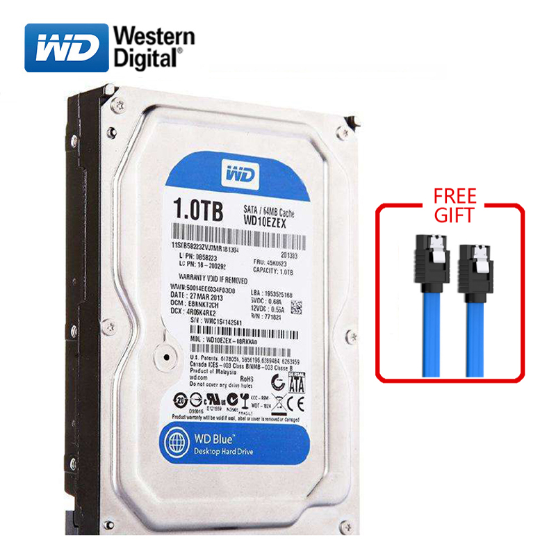 WD BLUE brand <font><b>1TB</b></font> internal hard disk 3.5