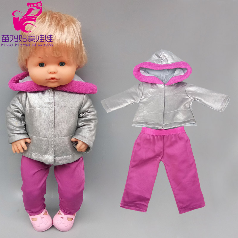 16 Inch Baby Doll Winter Coat For 40cm Nenuco Doll Clothes Ropa Y Su Hermanita Toys Wears Accessories
