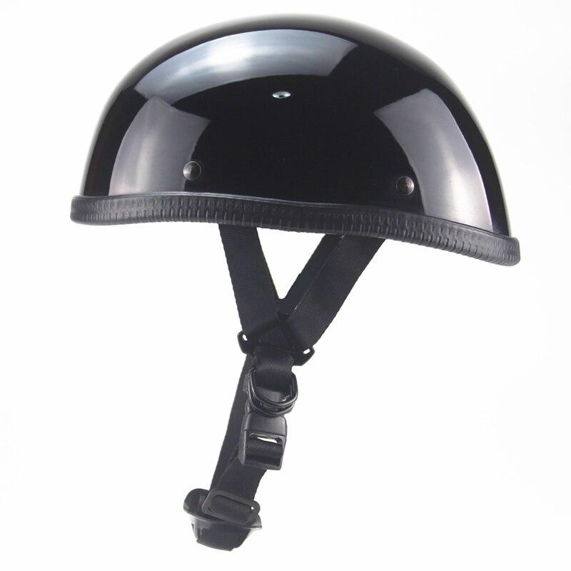 Винтажный мотоциклетный rcycle шлем, закрывающий половину лица шлем Ретро cascos para moto скутер, крейсер, чоппер