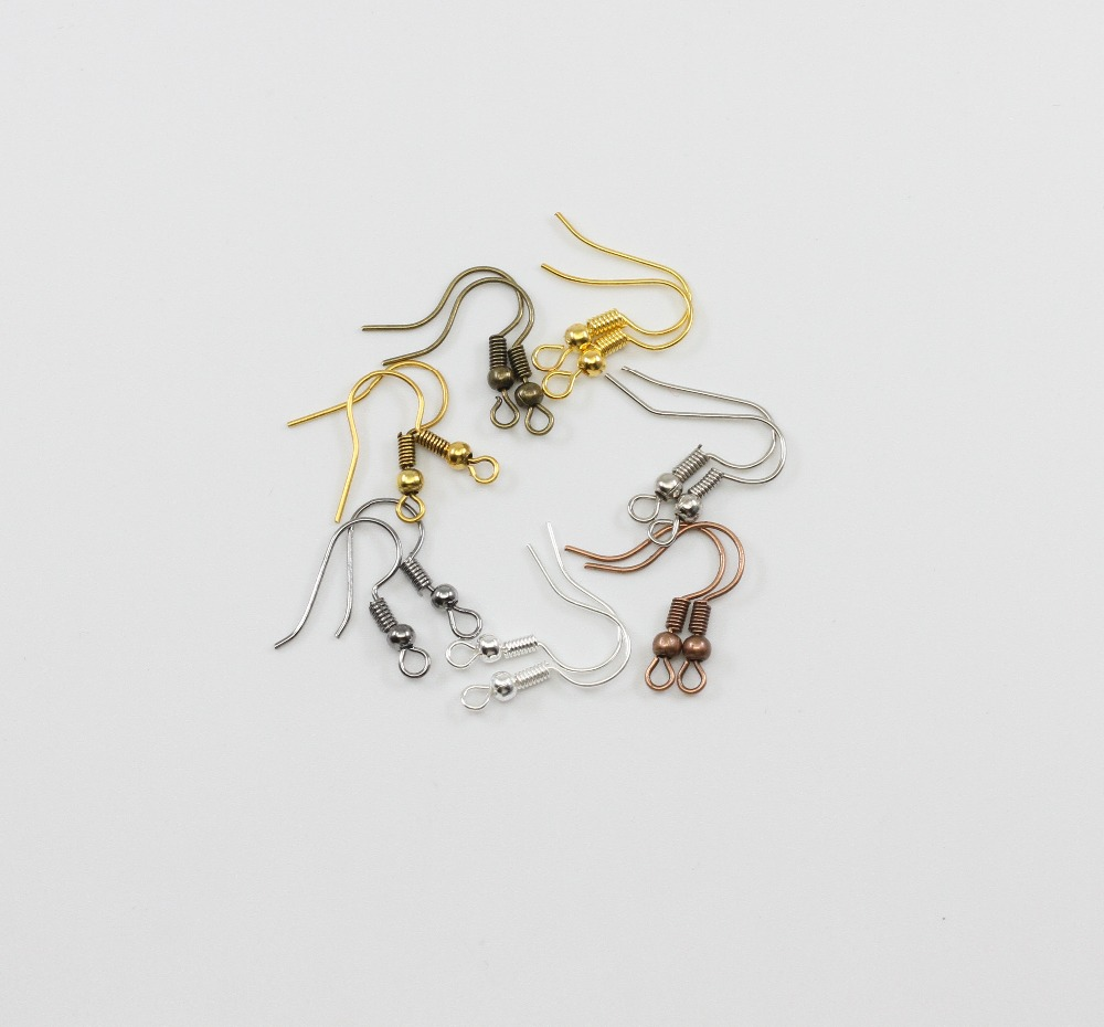 200pcs/lot Gold Silver DIY Earring Findings Earrings Clasps Hooks For Earrings Jewelry Making Accessories Iron Hook Earwire