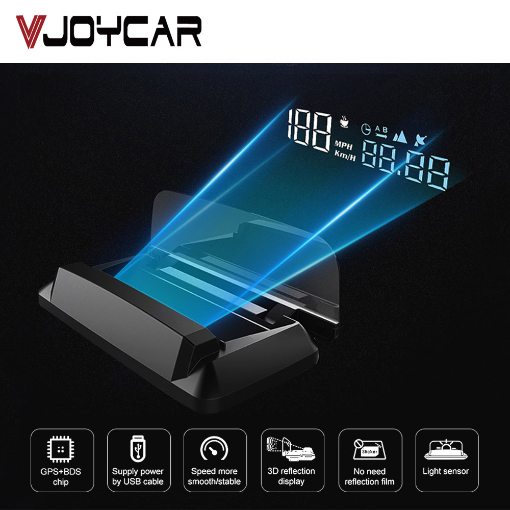 Car GPS Digital Speedometer KMH MPH HUD Automotive Head Up Display Vehicle Motorcycle Boat Bike Time Altitude Speed Meter Vol.