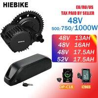 Bafang Motor BBS02 48V 500/750/1000W Mid Drive Motor Ebike Conversion Kit with Battery 48v 13/16/17.5AH 52V 17.5AH 8fun BBSHD