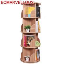 Infantil Para Casa için Shabby kitap rafı ahşap dönebilen döndür ev mobilya Libreria Scaffale kitaplık Librero kitaplık kılıfı