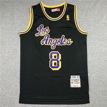 Sports Jersey NBA Los Angeles Lakers #8 Kobe Bryant Men's Basketball Jerseys Retro Gold Label Jersey Black And Purple