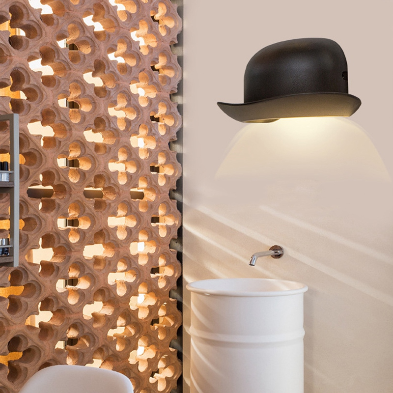 Top Aisle Wall Lamp Hat Shape 10W LED Outdoor Waterproof IP65 Wall Light Garden Landscape Decorative Lighting Aluminum Cap|Wall Lamps| |  - title=