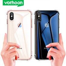 Противоударный прозрачный чехол vothoon для iphone 12 pro max