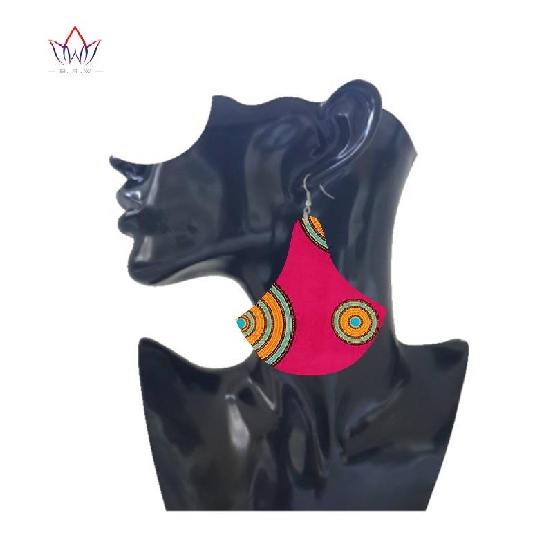 2019 new Multi color Ankara Ethnic Earrings African  Print Fabric Morning Glory Earrings Jewelry Earring for Women WYB301