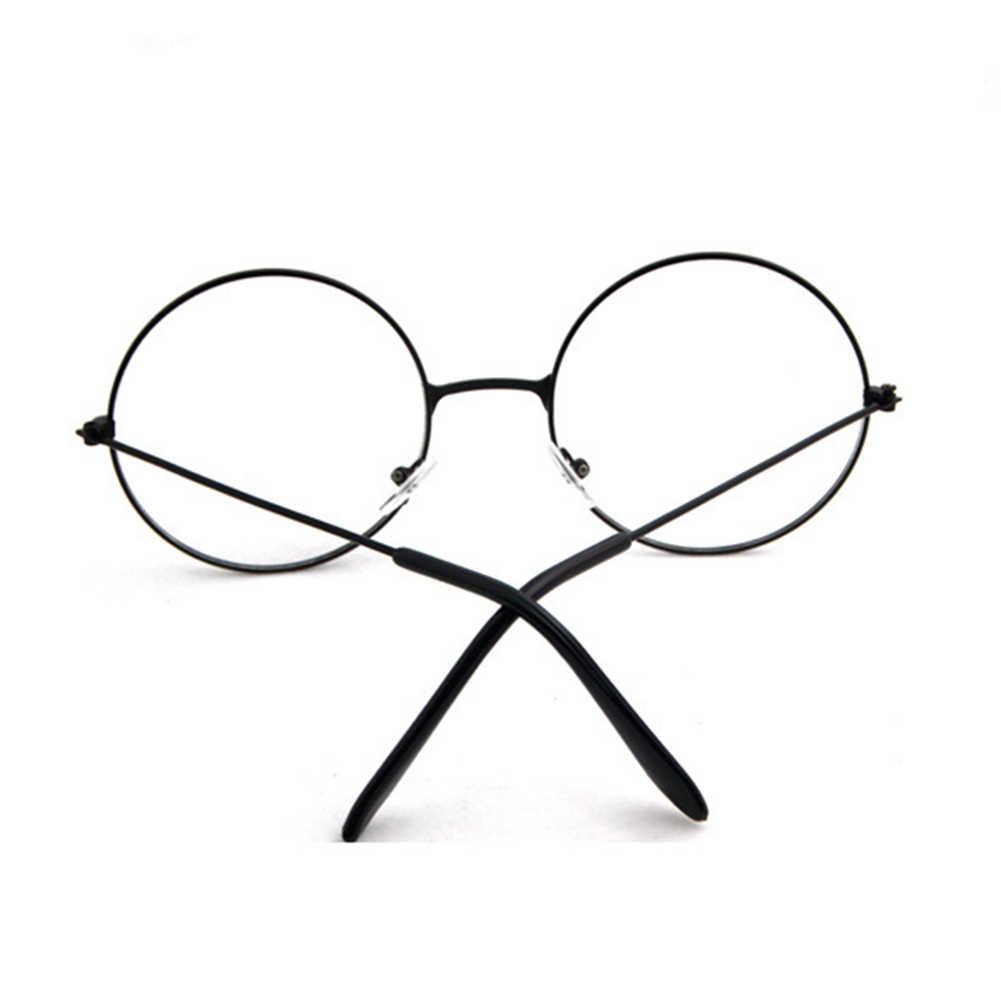 Vintage Wanita Pria Round Lingkaran Logam Kacamata Optik Kacamata Kacamata Bingkai Kacamata