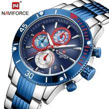 NAVIFORCE, военные кварцевые часы, мужские спортивные часы с хронографом, s часы, лучший бренд, роскошные многофункциональные водонепроницаемые наручные часы
