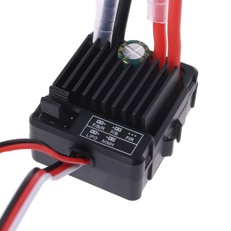 Электрический контроллер скорости для RC 1/10th Touring Cars Buggies Trucks Rock Crawlers, водостойкий, с щеткой 1060, ESC 60A 2-3S