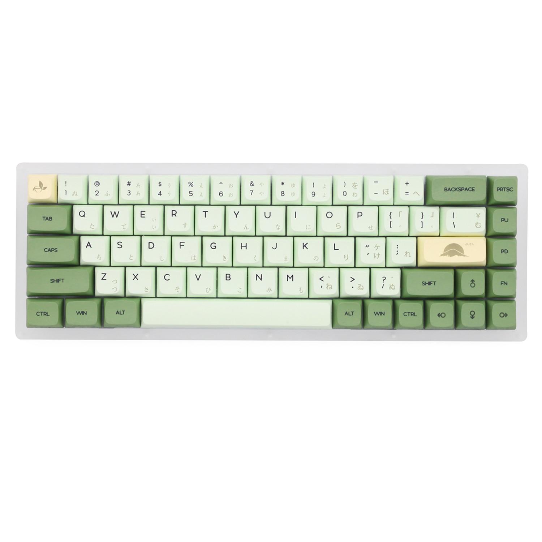 Набор клавиш с зеленым чаем маття XDA V2, набор толстых клавиш PBT для клавиатуры gh60, покер 87 tkl 104 ansi xd64 bm60 xd68 xd84 xd96, японский