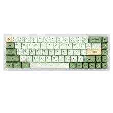 Xda v2 matcha chá verde tintura sub keycap conjunto grosso pbt para teclado gh60 poker 87 tkl 104 ansi xd64 bm60 xd68 xd84 xd96 janpanese