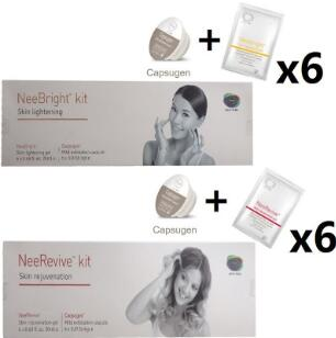 Facial Machine Exfoliation Consumable Products Neebright Neerevive Capsugen Whitening And Anti-Aging Kit Nee Revive