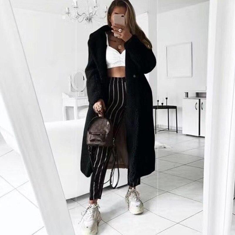 Faux futro pluszowy płaszcz kobiety jesień zima 2020 Casual Plus rozmiar długa kurtka kobiet gruba ciepła odzież wierzchnia Oversize futro mujer chaqueta