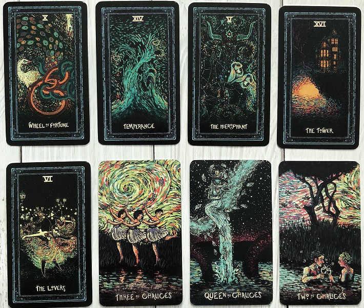 78 1pcs English Diy Silver Plating Blue Eye Visions Tarot Board Game Tarot Cards Deck Divination