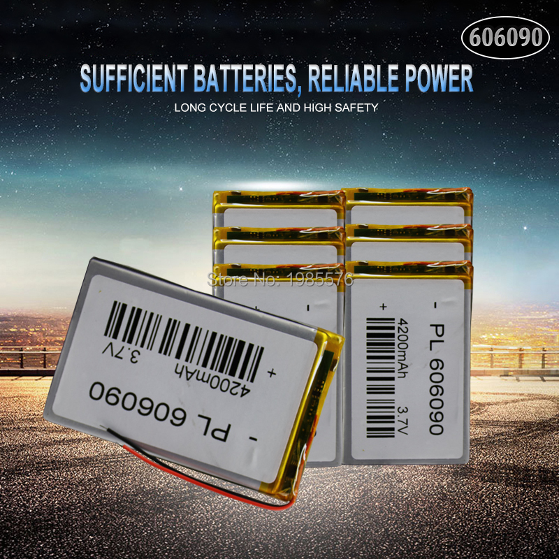 <font><b>3.7V</b></font> 606090 <font><b>4000mAh</b></font> Rechargeable <font><b>Lipo</b></font> <font><b>Battery</b></font> Tablet Dvd Camera GPS Electric Toys Laptop Lithium Polymer <font><b>Batteries</b></font> image