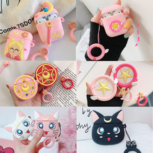 Case for Earphone-Cases Airpods2-Accessories Protect Cartoon Cover Apple with Finger-Ring-Strap