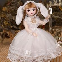 1/6 30CM Bjd Doll Lolita Dress 18 Movable Joints Dolls With Flower Suit Make up DIY Bjd Doll Best Gifts For Girl Animal BJD Toy